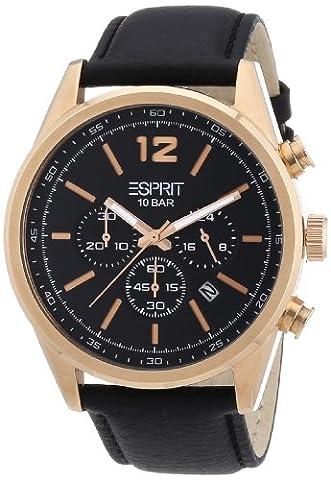 Esprit - ES106351004 - Montre Homme - Quartz Analogique - Bracelet Cuir Noir
