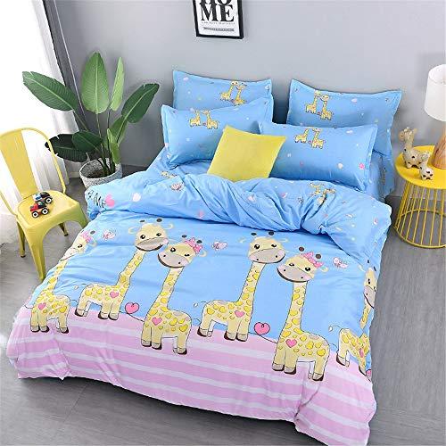 YUNSW Cartoon Tierdruck Bettbezug Erwachsene Kinder Twin Voll Königin King Size Heimtextilien Decke Bettbezug B 150x200 cm (Twin Bettbezug Kinder)