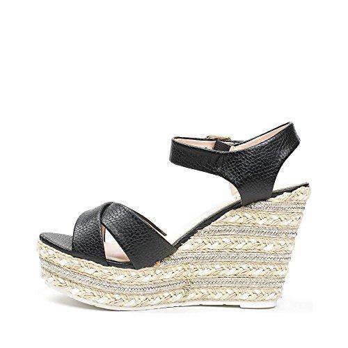 Preto Sandálias Sapatos Ideais Sapatos Femininas Ideais xq8TzFqaw