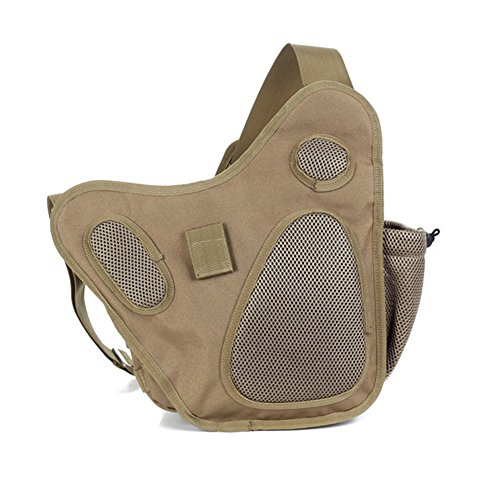 E Support™ Molle Tactical Schulterriemen Tasche Tactical Super Sattel Beutel Kurier Beutel Schulter Kamera Beutel Rucksack Kamera Geld Utility Bag Khaki