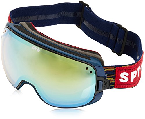 Spy Snow Goggle Bravo - Party Fatigue (with/Bonus Lens), Yellow W/ Gold Mirror + Grey W/ Black Mirror, One size, 313222653315