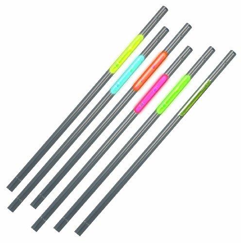 Hartig + Helling 98698 - Neon- Knicklicht- Trinkhalme FLS 30106, 6 Stück, blau/gelb/rot/grün/orange/weiß (Blau Rot, Partyartikel Weiß Und)