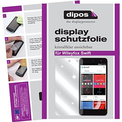 dipos I 2X Schutzfolie klar passend für Wileyfox Swift Folie Bildschirmschutzfolie