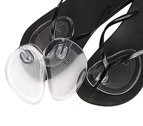 2 paires Gel String Sandale orteil protecteurs de l'avant-pied Coussins de poignée Ball-of-foot Coussins (clair)