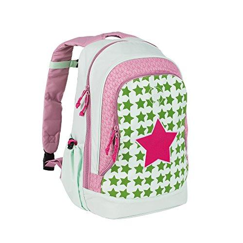LÄSSIG Kinderrucksack Mädchen Kindergartentasche Kindergartenrucksack groß mit Brustgurt / Backpack Big, Starlight