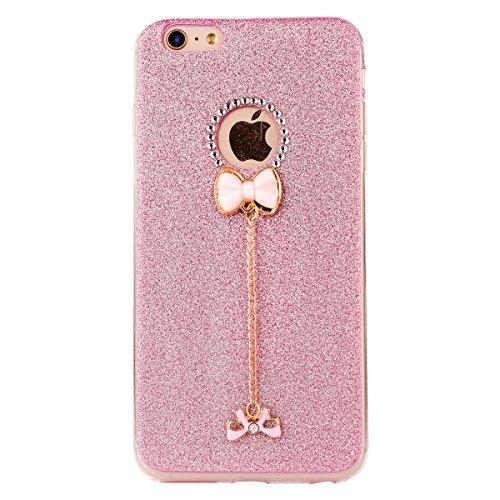 "iPhone 6s Hülle, iPhone 6 Handytasche, CLTPY Ultradünn Weich TPU Schutzfall Shinning Glitzer Kristall Schale Etui für 4.7"" Apple iPhone 6/6s + 1 x Stift - Rosa Rosa 1"