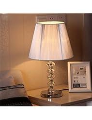 pengweiCristal plano mesa l¨¢mpara dormitorio moderno minimalista l¨¢mpara de cabecera