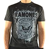 Amplified - Ramones Herren T-Shirt - Graffiti Logo (Grau) (S-XL) (M)