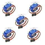 RCmall Feetech FS90R 360 grados de rotación continua Micro RC Servo 6V 1.5KG (paquete de 5 piezas)