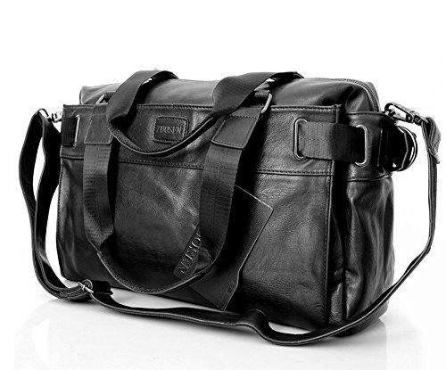 Everdoss Hommes sac à main en cuir PU sac en bandoulière sac d'épaule sac d'ordinateur voyage populaire commercial
