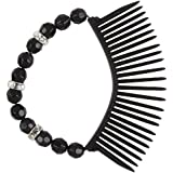Scunci Bendini Oval Beaded Snap Comb (Pack of 3) by Scunci