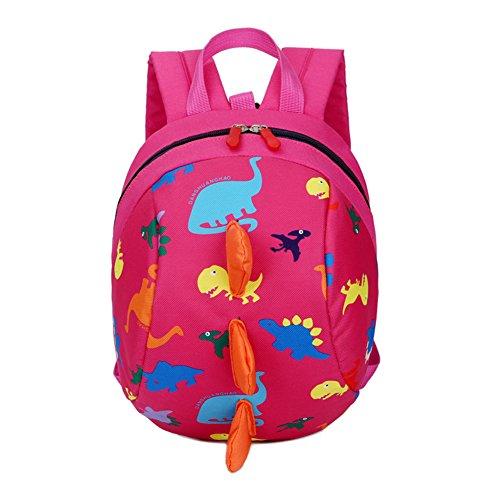 DafenQ Lindo Animal La mochila de jardín de infantes embroma la bolsa de la escuela de la taleguilla Bolso de escuela Kinderrucksack para bebé Niño Niña (Rosa Roja)