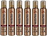 Wella Wellaflex Power Halt Anti-Aging Schaumfestiger für dünnes Haar, 6er Pack (6 x 200 ml)
