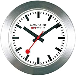Mondaine Men's Quartz Watch with White Dial Analogue Display and Silver Strap A660.30318.81SBB