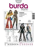 Burda 2511 Schnittmuster Kostüm Fasching Karneval Overall Jumpsuit (Damen, Gr. 34 - 44) Level 2 leicht