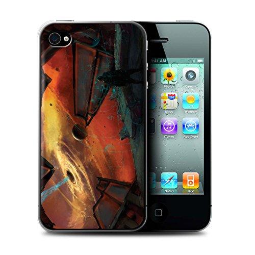 Offiziell Chris Cold Hülle / Case für Apple iPhone 4/4S / Raumfahrzeug Muster / Galaktische Welt Kollektion Schwarzes Loch