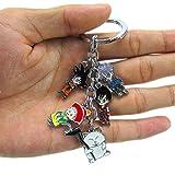 Anime dibujos animados Dragon Ball Z Keychains metal Figuras Colgantes Clave Cadenas