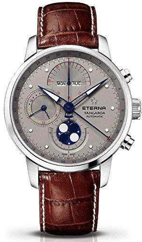 Eterna–Reloj de pulsera hombre Tanga Roa Fase lunar Cronógrafo analógico automático calendario completo 2949.41.16.1260