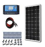 ECO-WORTHY Panneau Solaire Kit 100 W Mono Solaire Photovoltaïque W / 20A LCD Chargeur