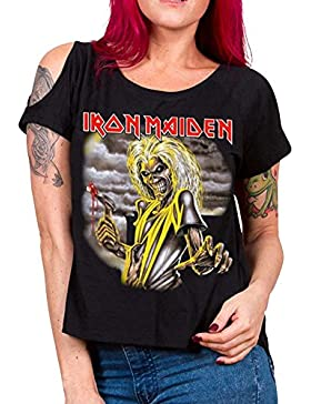 Producto oficial de Iron Maiden–Killers Mujer Cut Out T Camisa en negro