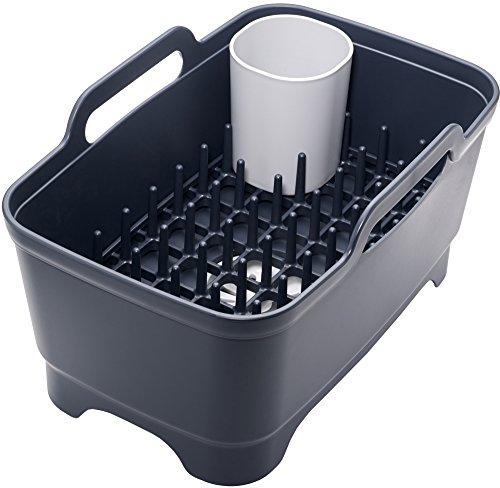 joseph-joseph-wash-and-drain-plus-washing-up-bowl-with-dish-drainer-dark-grey-grey