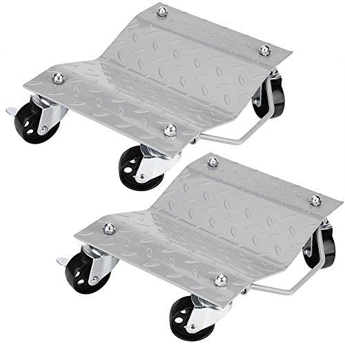 Preisvergleich Produktbild SOULONG 2 Stück Rangierwagen fürs Auto / Einkaufstrolley,  Halterung für Reifen bis zu 680 kg