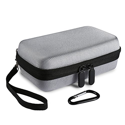 Poschell Tasche Hart Hülle Reisetasche für HP Sprocket Mobiler Fotodrucker Grau