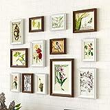 FORTR Home Paredes Decorativas Galería de Fotos Conjunto de Marcos de Pared con Ilustraciones utilizables y