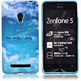 Voguecase Asus ZenFone 5 TPU Funda de Silicona de Gel Carcasa Tapa Case Cover (you smile) + Gratis aguja de la pantalla stylus universales