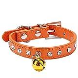 ZN Katzenhalsband, mit elastischem Sicherheitsverschluss, Ziersteinen und Glöckchen
