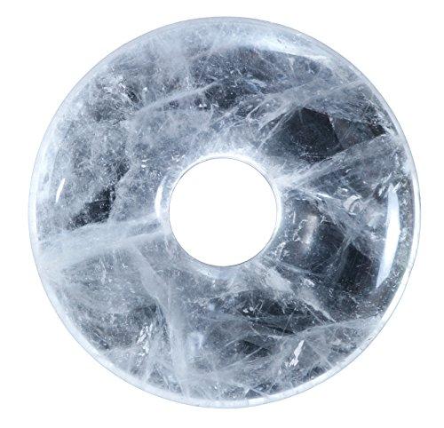 Bergkristall Edelstein Donut Ø 30 mm Anhänger