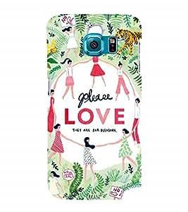 Nextgen Designer Mobile Skin for Samsung Galaxy S6 G920I :: Samsung Galaxy S6 G9200 G9208 G9208/Ss G9209 G920A G920F G920Fd G920S G920T (Love theme Animals Save Animals Save Tiger Be United)