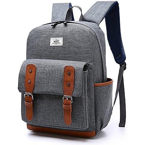 Nuevo modelo mochila 15l-20l portátil mochila para niñas adolescentes y niños gris gris