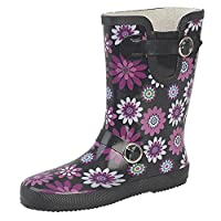 StormWells Womens/Ladies Buckle Strap/Gusset Wellington Boots