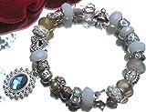 Schmuck Original Pandora Armband Silber mit NO NAME European Beads Anhänger handgefertigt +Geschenkbox +Schutzengel