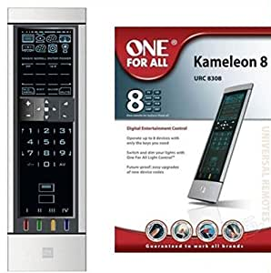 One For All Universal 8 in 1 Touch Screen Remote Controller URC 8308