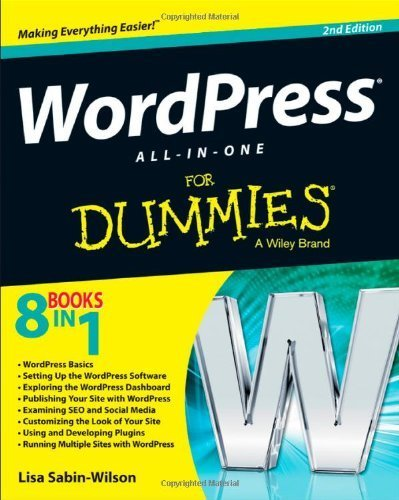 WordPress All-in-One For Dummies 2nd by Sabin-Wilson, Lisa (2013) Paperback