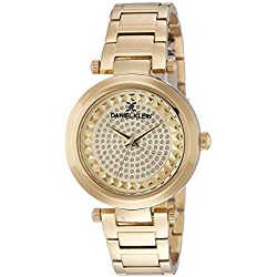 Daniel Klein Analog Gold Dial Women's Watch-DK10959-3