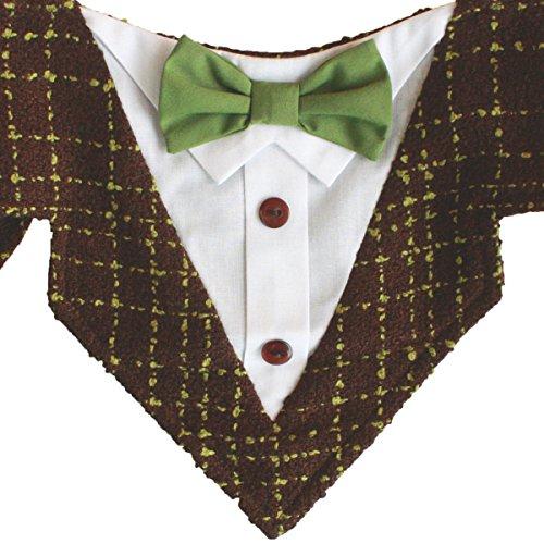 Schwanz Trends Formale Dog Tuxedo Bandana mit Fliege und Hals Krawatte Designs, Large, Robin (Robin Kostüm Für Hunde)