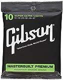 Gibson Gear SAG-MB11 Masterbuilt Premium Corde per Chitarra Acustica Rivestite in Fosforo e Bronzo, Super Ultra Sottili 11-52