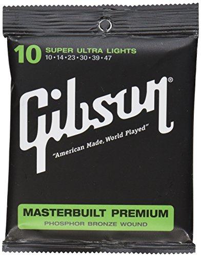 Gibson Gear SAG-MB12 Masterbuilt Premium Corde per Chitarra Acustica Rivestite in Fosforo e Bronzo