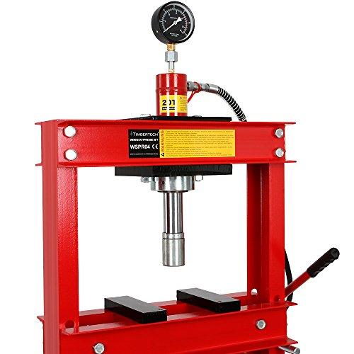 Pressa manuale idraulica officina 20t con manometro for Pressa idraulica manuale