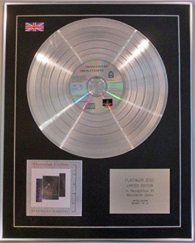 Century Music Awards Thomas Dolby Platin-CD mit Flacher Erde, Platin Thomas Flach