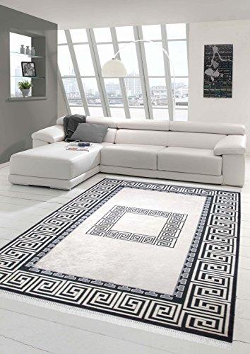 Traum stampa tappeto lavabile tappeto progettista tappeto moderno tappeto da salotto con bordo in nero e crema größe 160x230 cm