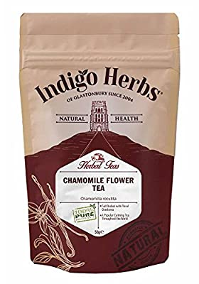 Chamomile Flowers (Dried) Loose Herbal Tea - 50g by Indigo Herbs