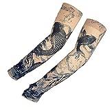 KEHUASHINA Temporäre gefälschte Slip auf Tattoo Arm Ärmel Kühlung Halb-Finger-UV-Abdeckung - chinesische Fee