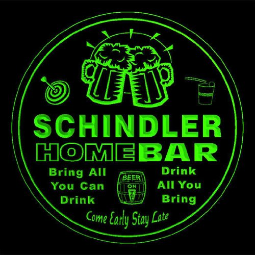 4x-ccq39820-g-schindler-family-name-home-bar-pub-beer-club-gift-3d-coasters