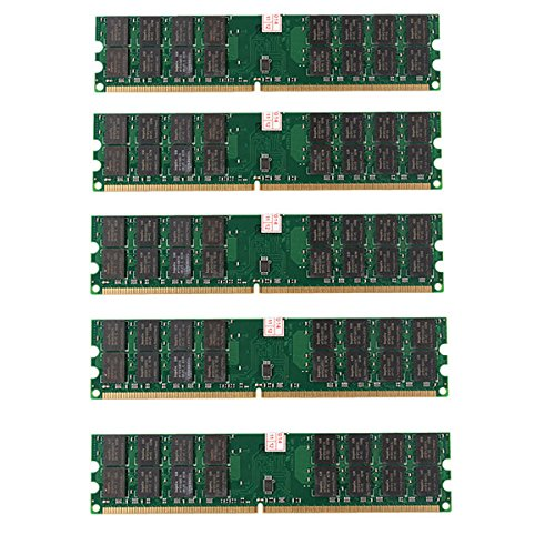 Tutoy 5 Pcs 4Gb Ddr2 800Mhz Pc2-6400 240 Pins Desktop Pc Memory AMD Motherboard