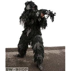 Traje de camuflaje para nightfighter Ghilie negro Talla:talla media/grande