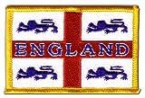 Flaggen Aufnäher England 4 Löwen Fahne Patch + gratis